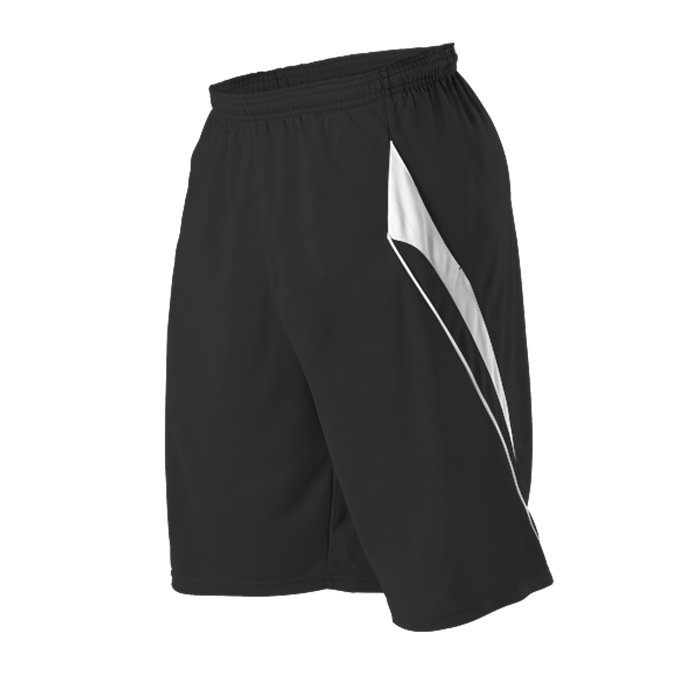 Adult Gameday Tech Short With Pockets White Piping