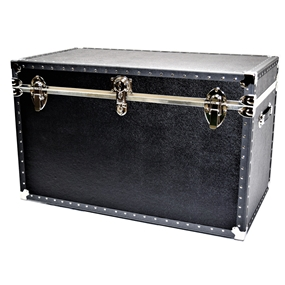 Biltmore Trunk Black Vinyl Covered Trunk