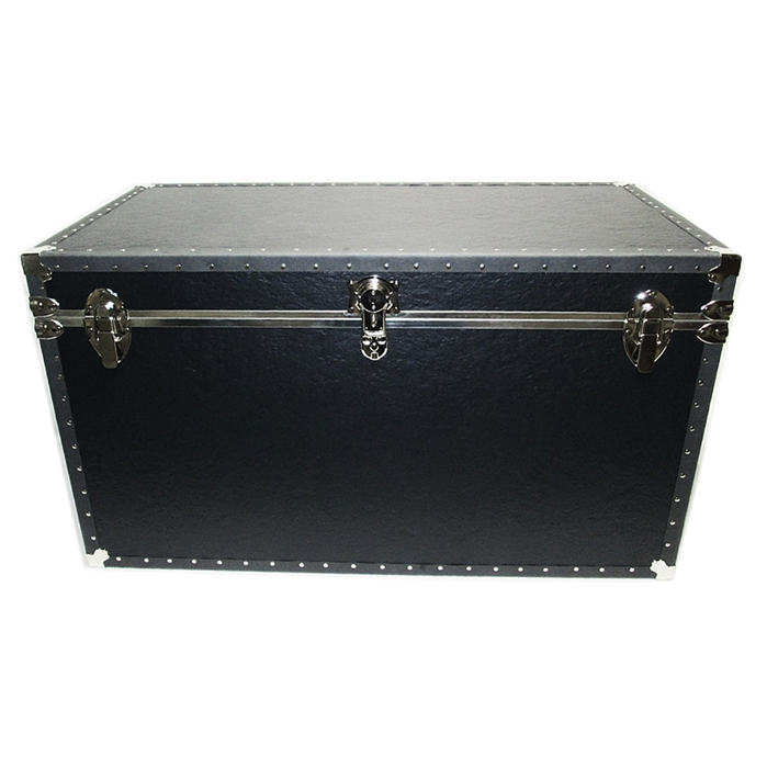 Biltmore Trunk Black Vinyl Covered Shipping and Storage Trunk