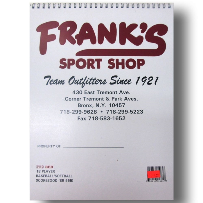Franks Big Red Baseball/Softball Scorebook