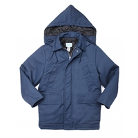 Men's Quilt Lined Parka With Zip-Off Hood