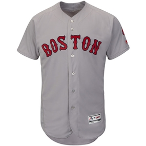 Boston Red Sox Majestic Road Gray Flex Base Authentic Collection Team Jersey