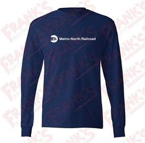 Tagless Comfortsoft MTA Metro-North Railroad Long-Sleeve T-Shirt