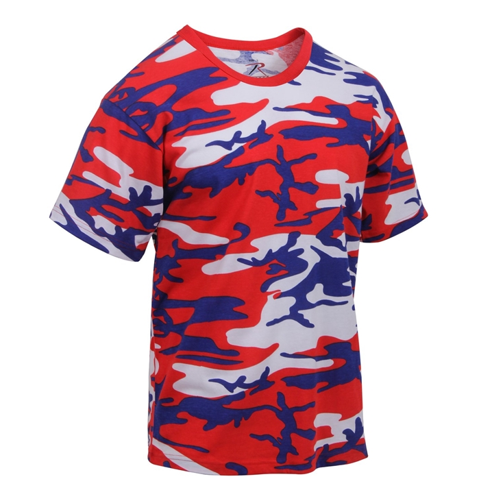 Rothco Red Blue White Camo T-Shirt