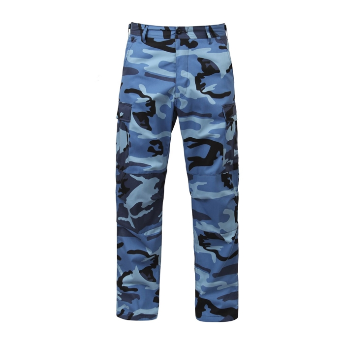 Sky Blue City Camo BDU Adjustable Waist Cargo Pant