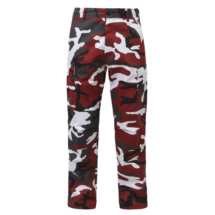 Red Camo BDU Adjustable Waist Cargo Pant