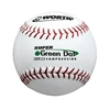 Worth ASA 11 in. Super Green Dot Pro Leather Red Stitch Softballs - 1 Dozen