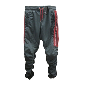 Switch Jogger Pants with Shirred Leg Side Stripe Tricot Pants