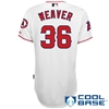Jered Weaver #36,  Angels of Anaheim Authentic Home Jersey