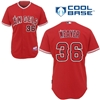 Jered Weaver #36, Angels of Anaheim Authentic Alternate Jersey