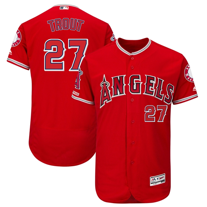 Majestic Los Angeles Angels Mike Trout Alt. Authentic Jersey