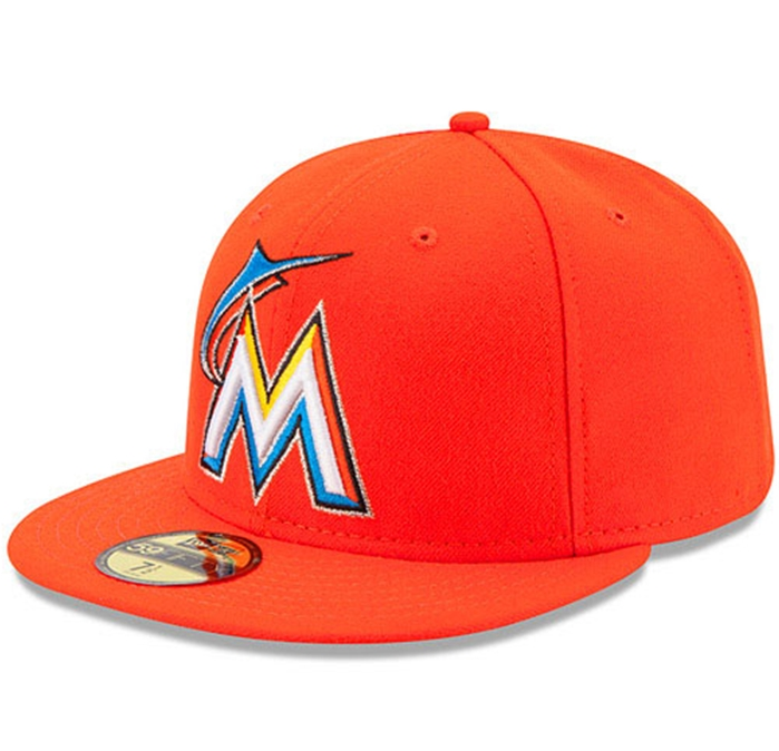 Miami Marlins Authentic 2012 Road 59FIFTY On-Field Cap