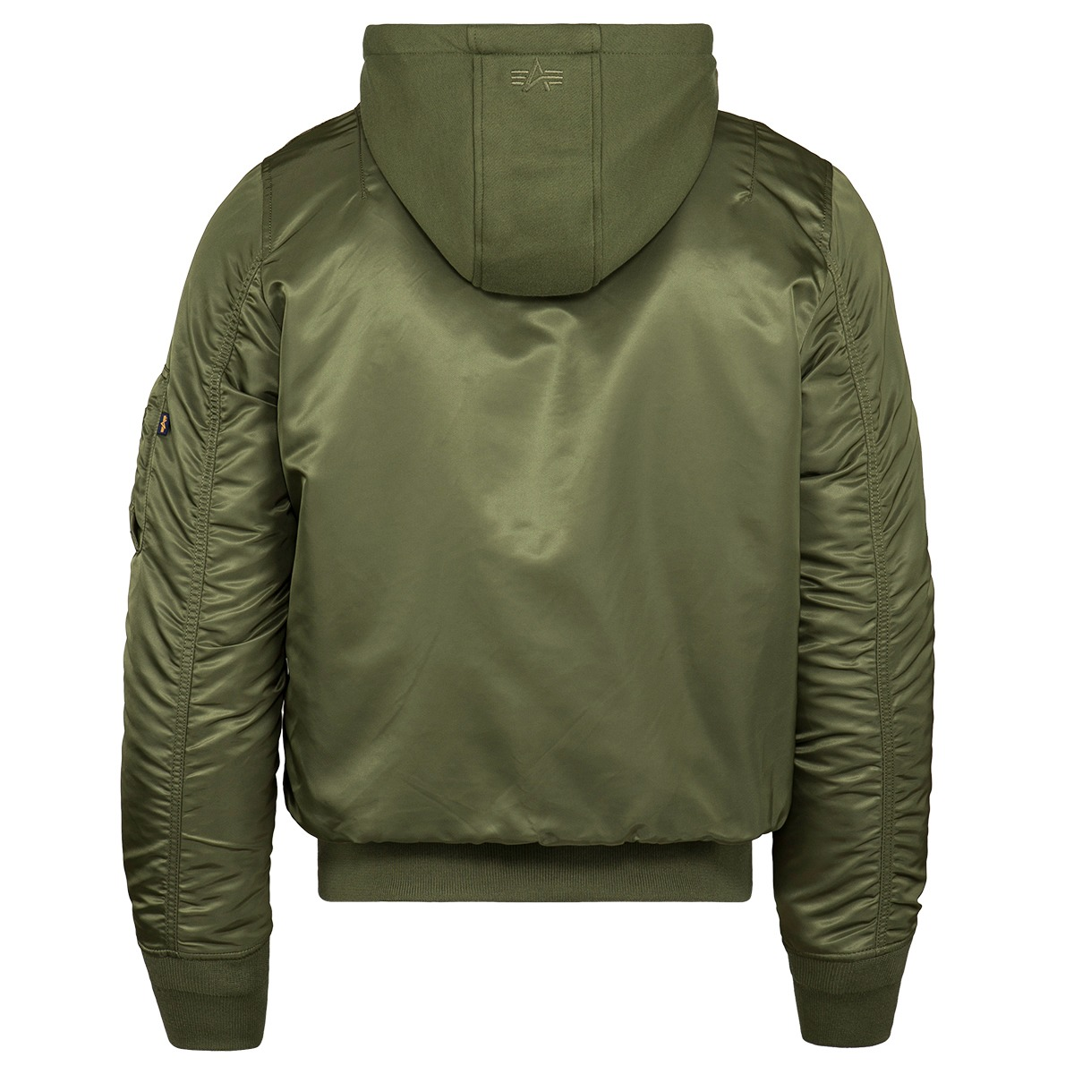 d346318110772 Alpha Industries MA-1 Natus Hooded Bomber Jacket. click on thumbnail to zoom