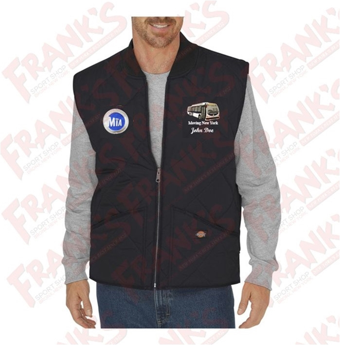 Custom Dickies MTA Bus Front/Back Diamond Quilted Nylon Vest