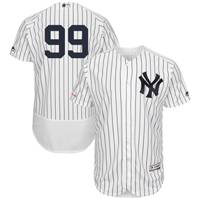 Majestic New York Yankees Aaron Judge Home White Authentic Jersey