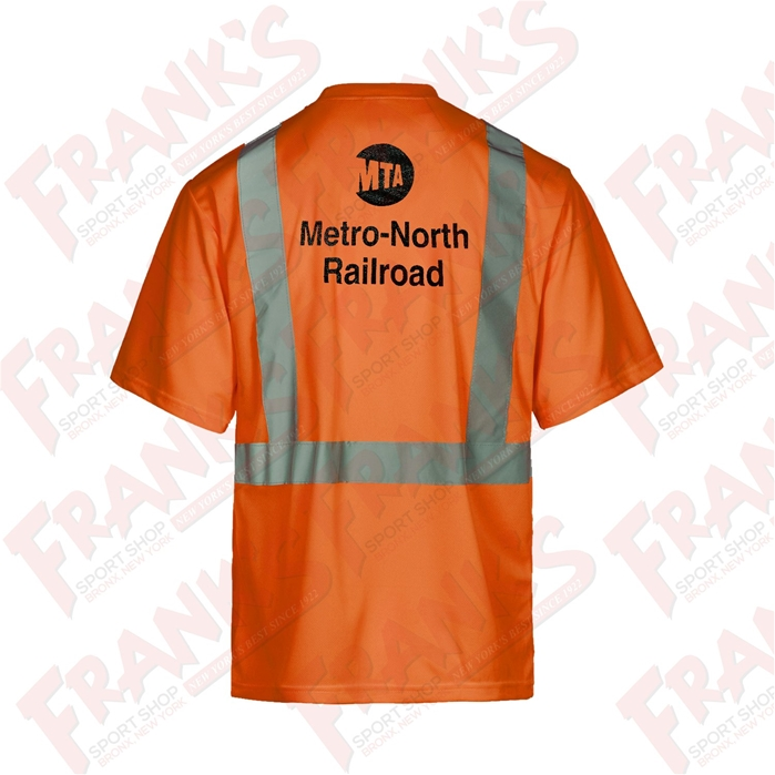 Metro-North Railroad Class 2 Safety Orange Short Sleeve T-Shirt