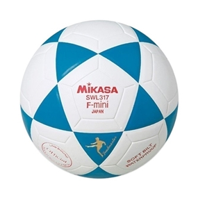 Mikasa Indoor Mini Soccer Balls Royal and White Thumbnail