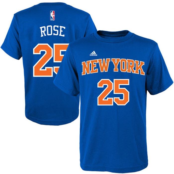 Adidas New York Knicks Derrick Rose T-Shirt