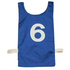 1- Dozen Champion Sports Numbered Heavyweight Nylon Pinnie