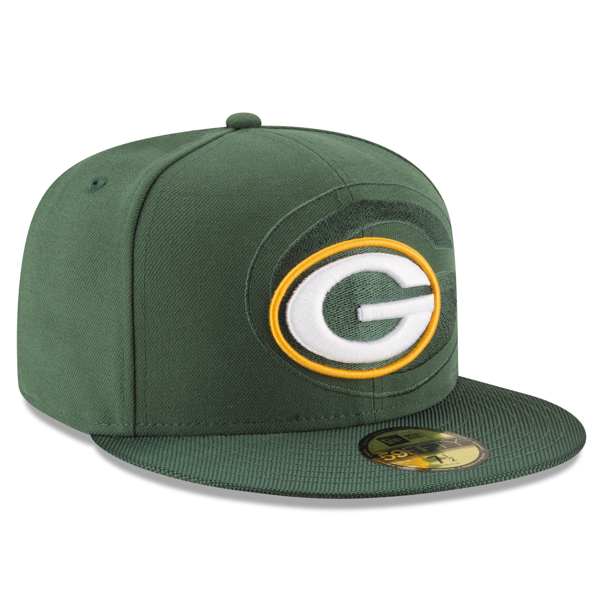 New Era Green Bay Packers Green 2016 Sideline Official 59FIFTY Fitted Hat 4a041921a
