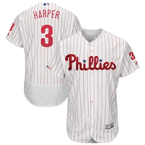 Majestic Philadelphia Phillies Bryce Harper White Home Authentic Jersey