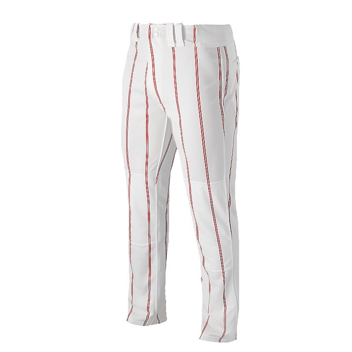 Men's baseball uniform pants are sewn from abrasion-resistant technical fabric, so your pants can stand up to even the toughest season. Lightweight, knit material allows for natural airflow. Select from full-length baseball pants or pull-up pants with elastic ribbing in the ankle cuff.