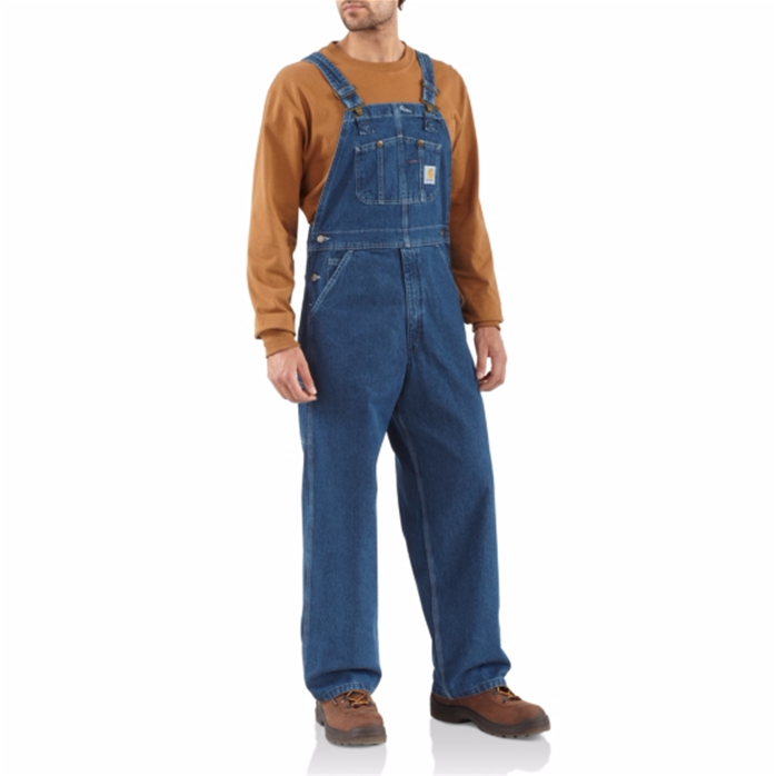 CARHARTT WASHED DENIM BIB OVERALL UNLINED