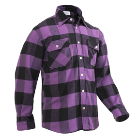 Rothco Extra Heavyweight Buffalo Plaid Flannel Shirt (9 Colors)