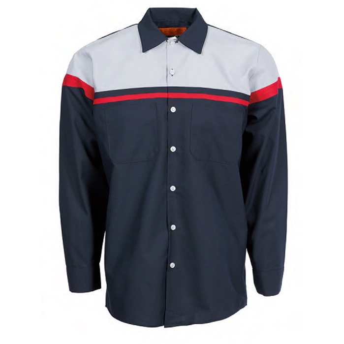 Pinnacle S27 Technician Multi-stripe Industrial Long Sleeve Shirt