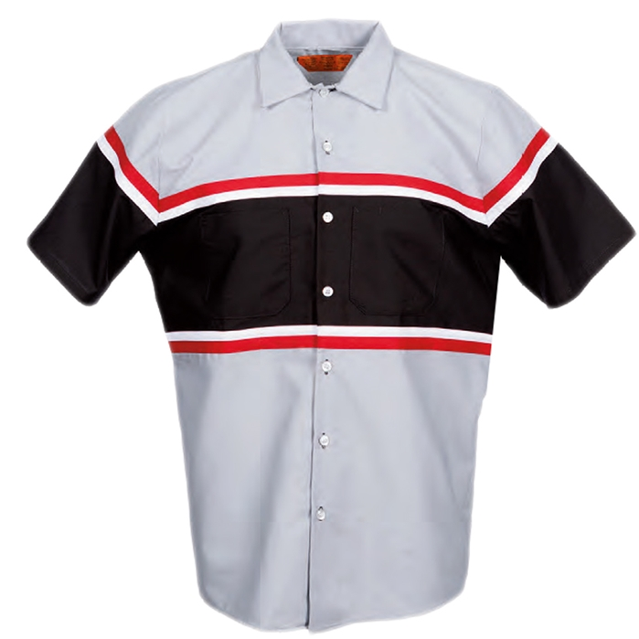 Pinnacle S28 Technician Multi-stripe Industrial Short Sleeve Shirt