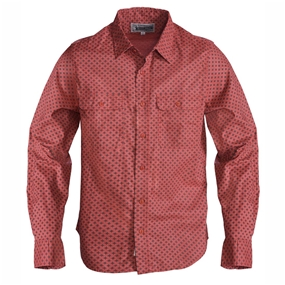 Schott Men's Long Sleeve Cotton Rust Shirt