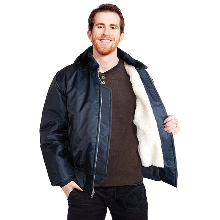 USA MADE Sherpa Lined Bomber Jacket