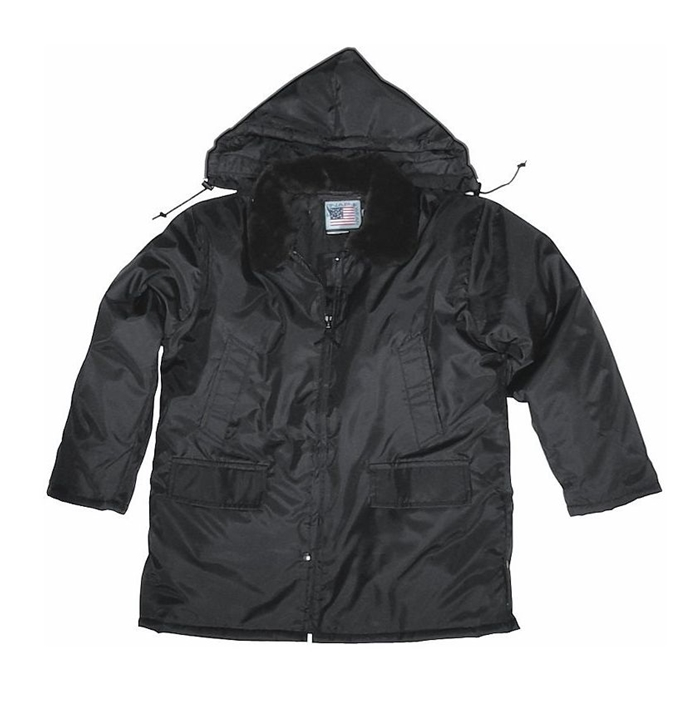 Nylon Parka with Zip-Off Hood & Pile Collar