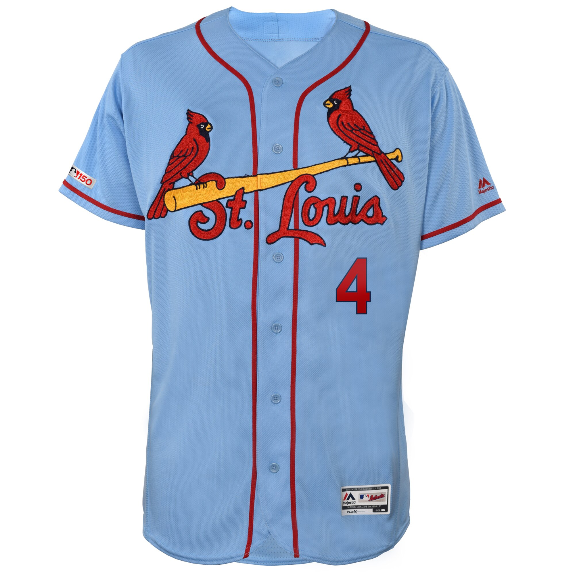 info for 41fdf 6afa5 Majestic St. Louis Cardinals Yadier Molina Alt. Base Authentic Jersey