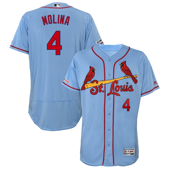 Majestic St. Louis Cardinals Yadier Molina Alt. Base Authentic Jersey