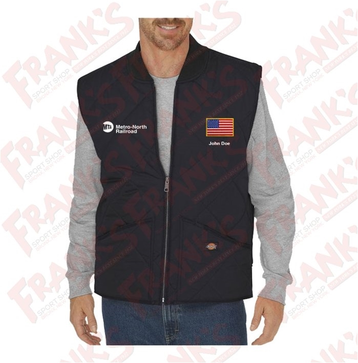 Custom Dickies Metro-North Railroad Diamond Quilted Nylon Vest