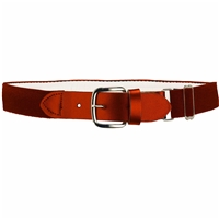 Heavy Duty Adult Stretch Baseball-Softball Belts Texas Orange U.S. A. Made