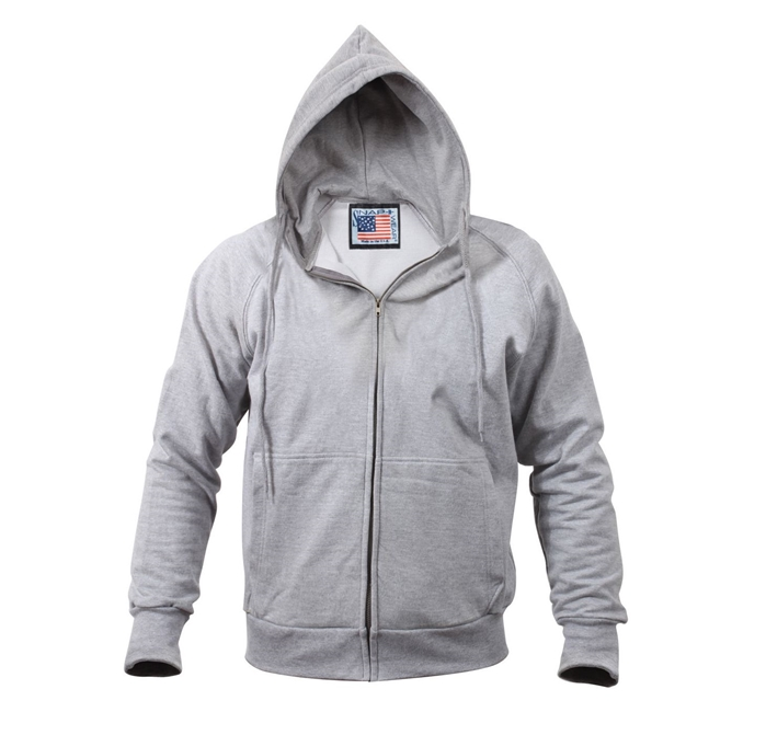 USA MADE Thermal-Lined Hooded Sweatshirt