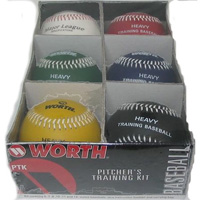 """6 Set of 9"""" Weighted Training Baseball Balls"""