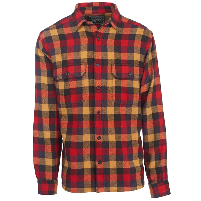 Oxbow Bend Plaid Flannel Red Multi Buffalo Shirt