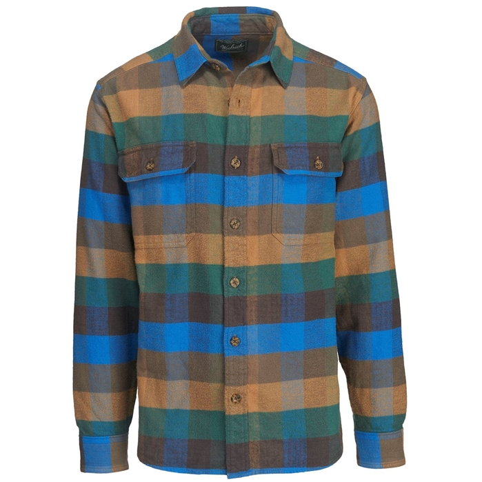 Oxbow Bend Plaid Flannel Multi Check Shirt