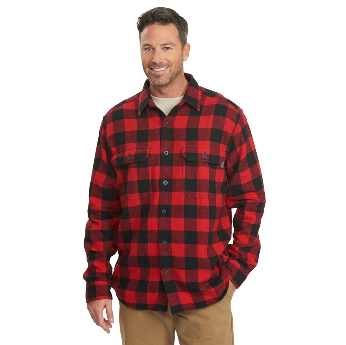 Oxbow Bend Plaid Flannel Old Red Buffalo Shirt