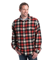 Buffalo Check Wool Red Black White Shirt