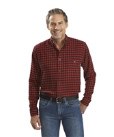 Trout Run Plaid Flannel Old Red Small Buffalo Shirt