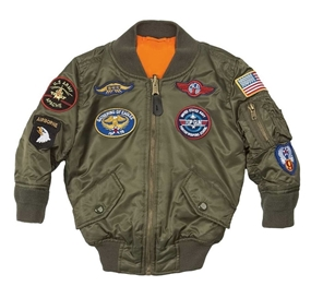 ALPHA INDUSTRIES Boys MA-1 Jacket with Patches