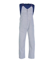 Zip-Front Closure Hickory Stripe Bib Overall