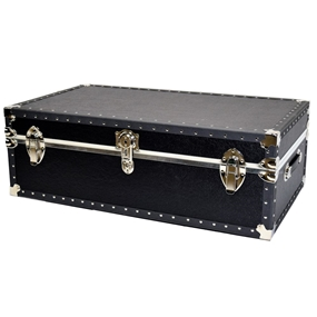 Biltmore Trunk Black Vinyl Covered Steamer Trunk
