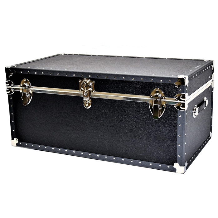 Biltmore Trunk Black Vinyl Covered College Trunk