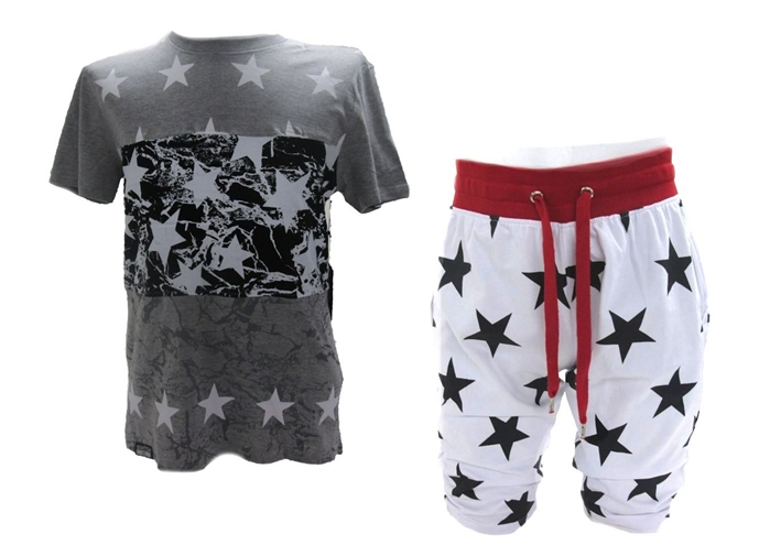 Set of Switch Remarkable Cut Block Star Print T-Shirt & Pants