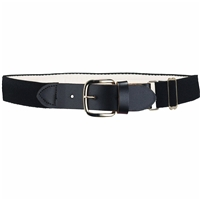 Heavy Duty Adult Stretch Baseball-Softball Belts Black U.S. A. Made